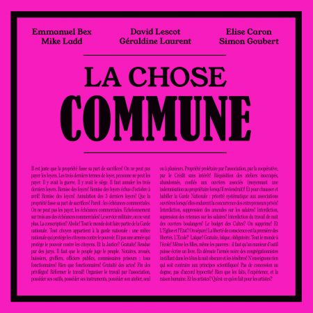 LA CHOSE COMMUNE (CD audio)